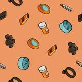 Vet pharmacy color outline isometric pattern. Vector illustration, EPS 10 Royalty Free Stock Photography