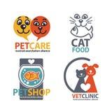 Vet shops, veterinary clinics and homeless animals shelters Royalty Free Stock Photos
