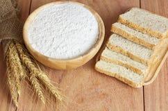 Vete-, bröd- och vetemjöl Royaltyfria Foton