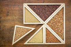 Vete och gluten frigör korn Arkivbild