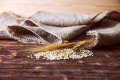 Vetekorn, mjöl och bröd Royaltyfria Bilder