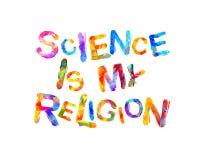 Vetenskap är min religion royaltyfri illustrationer