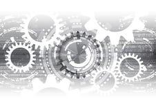 Vetenskap för data för kommunikation för teknologi för vektorbakgrundsabstrakt begrepp Arkivbilder