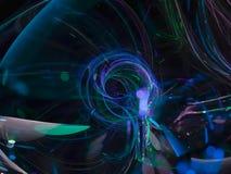 Vetenskap för kurva för abstrakt för fractalfärgbakgrund fantasi för begrepp härlig dynamisk, energistildisko, parti stock illustrationer
