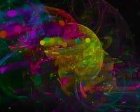 Vetenskap för kurva för tapet för abstrakt fantasi för fractalfärg digital härlig dynamisk, energistildisko, parti stock illustrationer