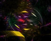 Vetenskap för kurva för tapet för abstrakt för fractalfärg digital fantasi för begrepp härlig dynamisk, energistildisko, parti vektor illustrationer