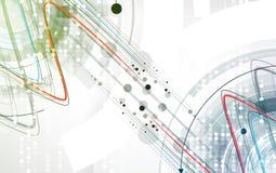 Vetenskaplig framtida teknologi För affärspresentation Reklamblad, Arkivfoto