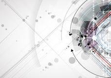 Vetenskaplig framtida teknologi För affärspresentation Reklamblad, Arkivfoton