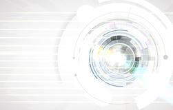 Vetenskaplig framtida teknologi För affärspresentation Reklamblad, Royaltyfri Fotografi