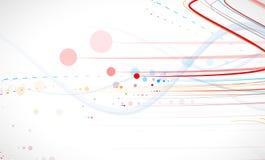 Vetenskaplig framtida teknologi För affärspresentation Reklamblad, Arkivbild