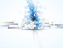 Vetenskaplig framtida teknologi För affärspresentation Reklamblad, Royaltyfri Bild
