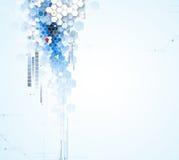 Vetenskaplig framtida teknologi För affärspresentation Reklamblad, Royaltyfria Foton