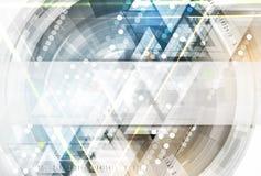 Vetenskaplig framtida teknologi För affärspresentation Reklamblad, Royaltyfria Bilder