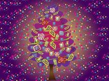 vetenskaplig tree för jul Stock Illustrationer