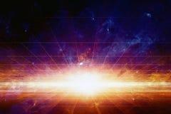 Vetenskaplig utrymmebakgrund Arkivbilder