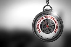 Vetenskapliga teknologier på klockaframsida illustration 3d Arkivfoton