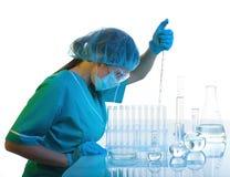 Vetenskapligt experiment. royaltyfri fotografi
