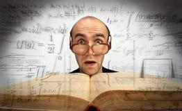 vetenskapligt förvånadt för mathematician royaltyfri bild