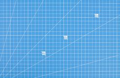 Vetenskapligt teknikrasterpapper Ritningbakgrund arkivbild
