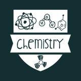 Vetenskaps- och kemidesign Arkivbild