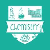 Vetenskaps- och kemidesign Fotografering för Bildbyråer