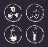Vetenskaps- och kemidesign Royaltyfri Fotografi