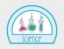 Vetenskaps- och kemidesign Arkivbilder