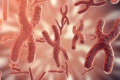 Vetenskapsbakgrund med kromosomer Vetenskapligt begrepp för medicin framförande 3d royaltyfri illustrationer
