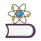 Vetenskapsbokmolekyl vektor illustrationer