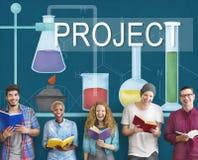 Vetenskapsforskningsprojektkunskap inför nyheter erfarenhet Intellige stock illustrationer