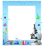 Vetenskapshjälpmedel och behållare Arkivfoton