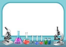 Vetenskapshjälpmedel och ram Royaltyfri Fotografi