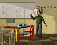 Vetenskapslärare i klassrum Arkivbild