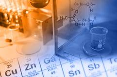 Vetenskapslabb med kemiskt tema Arkivbild