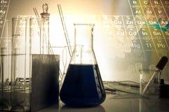 Vetenskapslabb med kemiskt tema Royaltyfri Bild