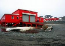 Vetenskapsstation Antarktis Arkivbilder
