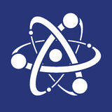 Vetenskapssymbol eller symbol av atomen Arkivbild