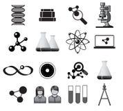 Vetenskapssymboler vektor illustrationer