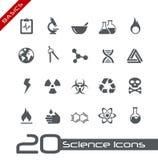 Vetenskapssymbols// grunderna Royaltyfri Foto