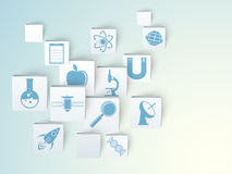 Vetenskapstecken- och symboluppsättning Arkivfoto