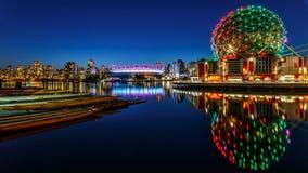 Vetenskapsvärld i Vancouver, Kanada fotografering för bildbyråer