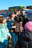 Veteraan van het militairen de Sovjetleger A van de Tweede wereldoorlog Royalty-vrije Stock Foto