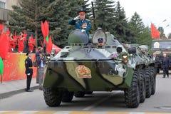 Veteraan van militaire operaties op btr-80 Pyatigorsk, Rusland Royalty-vrije Stock Foto's