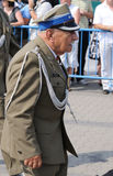VETERAN. Colonel Zdzislaw Picheta - a veteran of World War II, arrives at the celebrations of Polish Armed Forces Day Stock Photos