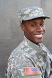 Veteran African American Soldier Smiling stock photography