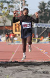 Veteran athletes. Compete in the national championship athletic master at a stadium in the city of Solo, Central Java, Indonesia Royalty Free Stock Photography