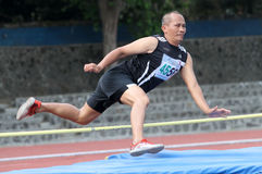 Veteran athletes. Compete in the national championships in a stadium in the city of Solo, Central Java, Indonesia Royalty Free Stock Photography