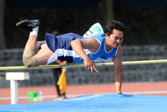 Veteran athletes. Compete in the national championships in a stadium in the city of Solo, Central Java, Indonesia Royalty Free Stock Photos
