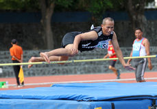 Veteran athletes. Compete in the national championships in a stadium in the city of Solo, Central Java, Indonesia Stock Photo