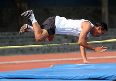 Veteran athletes. Compete in the national championships in a stadium in the city of Solo, Central Java, Indonesia Stock Images